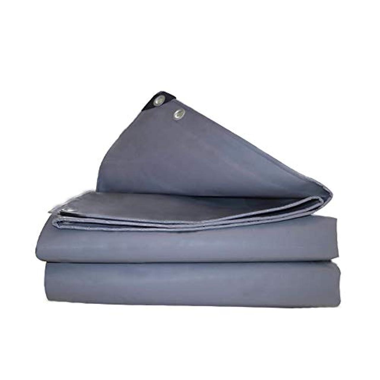 気取らない近々元気防水シート、屋外用厚手グレーナイフ掻き布、580g /平方メートルクレープ、レインサンスクリーンターポリン(17サイズ)