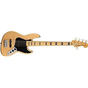 Squier by Fender エレキベース Classic Vibe '70s Jazz Bass® V, Maple Fingerboard, Natural