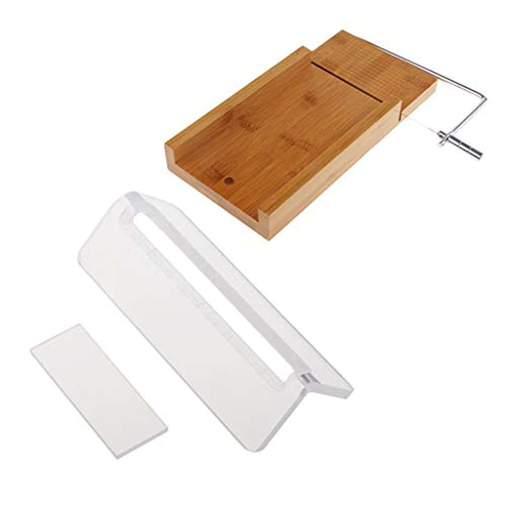 貸し手スリム合意ローフカッター 木製 ソープ包丁 石鹸カッター 手作り石鹸 DIY キッチン用品 2個入り