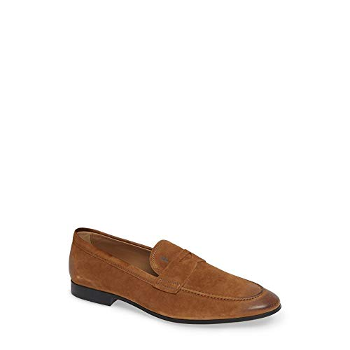 (トッズ) TOD'S メンズ シューズ・靴 ローファー 'Mocassino' Suede Penny Loafer [並行輸入品]