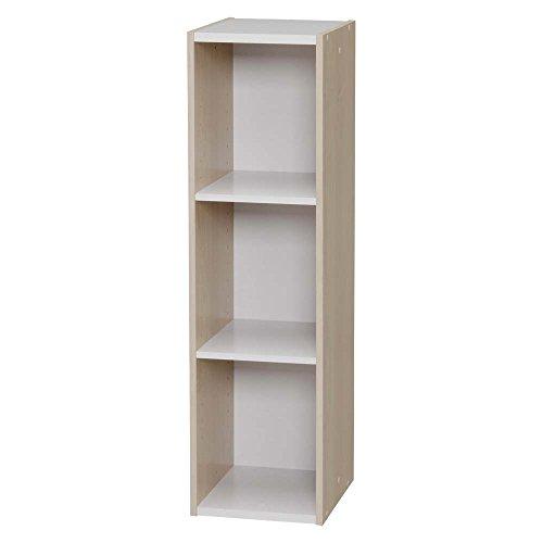 ラック 収納 本棚 書棚 オープンラック ディスプレイラック 文庫 スペースユニット 3段(258980) アイリスオーヤマ