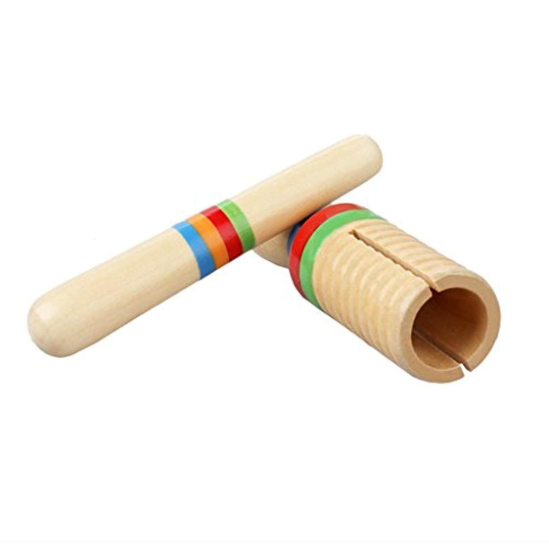 Prettyia 木製 トーンブロック マレット付き 子供 打楽器 楽器玩具