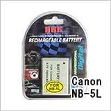 キャノン(CANON) NB-5L デジカメ用 互換バッテリー(M)
