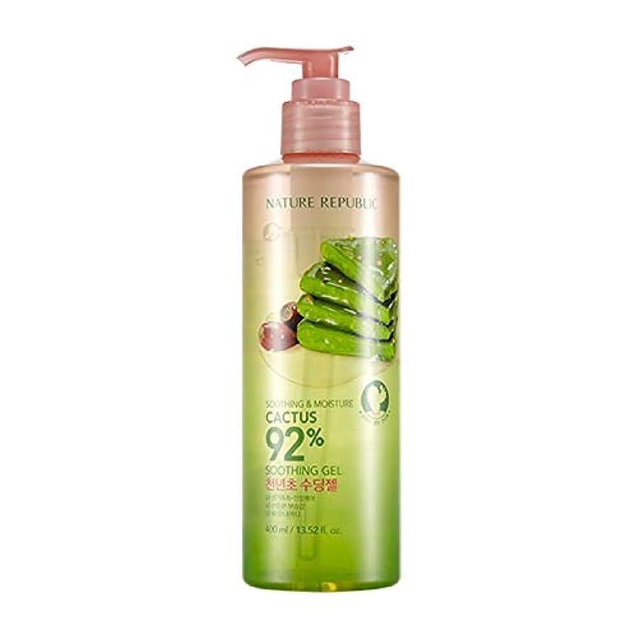 溶接シットコム道ネイチャーリパブリック(Nature Republic)スージングアンドモイスチャーチョンニョンチョ92%スージングジェル(ポンプ)400ml / Soothing and Moisture Cactus 92% Soothing Gel(Pump) :: 韓国コスメ [並行輸入品]