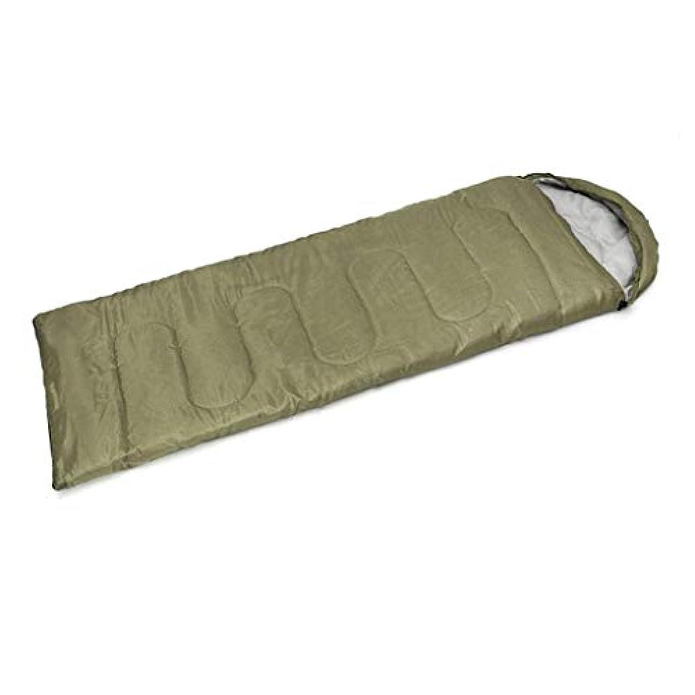 絶対に買うフェミニン封筒フード付き寝袋夏のキャンプアウトドアレジャー通気性防水ポータブル収納袋 (色 : 緑)