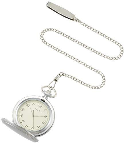 [セイコーウォッチ] 懐中時計 アルバ ポケットウオッチ シルバー 蓋付き アラビア数字 AQGK451