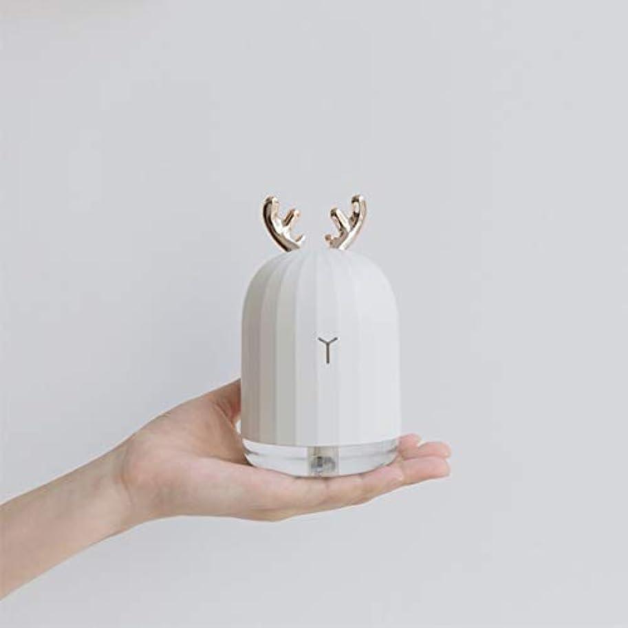 公爵以内にトランペットSaikogoods LEDナイトライトとラベンダーの空気超音波加湿エッセンシャルオイルディフューザーアトマイザーエアフレッシュナーミストメーカー 鹿