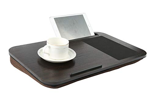 Home-Like 膝上テーブル ノートパソコンスタンド クッションテーブル フォームひざ上テーブル ラップデスク ポータブル ラップトップテーブル ラップトップサポート ノートパソコン タブレット15.6インチ対応 ストレージオーガナイザー (BR02-BJ)