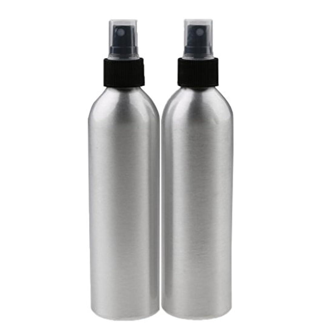 ラグ小麦アダルトLovoski 2個入り 旅行 アルミ ミスト スプレー 香水ボトル メイクアップ スプレー アトマイザー 香水瓶 携帯用 軽量 便利  全4サイズ - 250ml