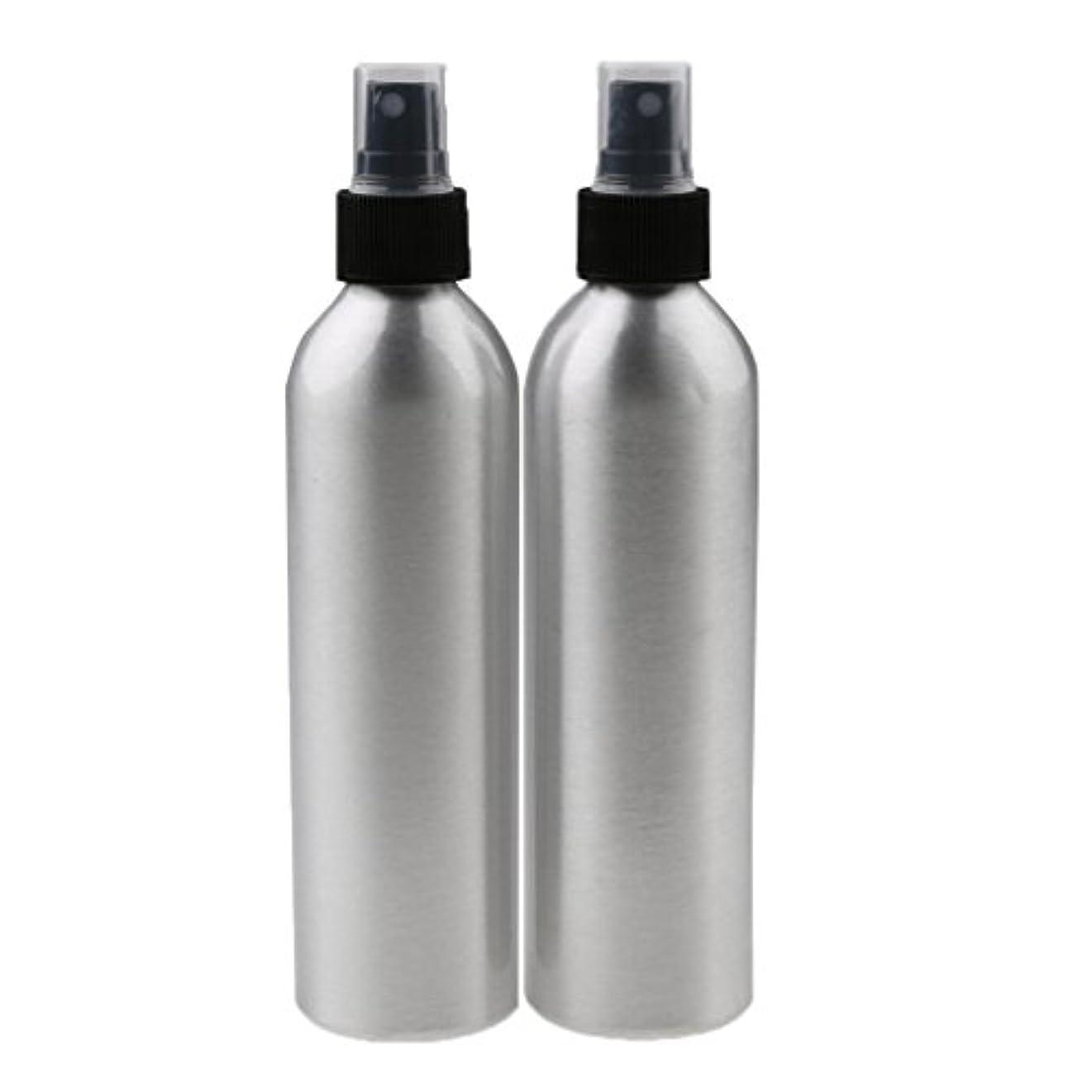 墓言い聞かせる貸し手Lovoski 2個入り 旅行 アルミ ミスト スプレー 香水ボトル メイクアップ スプレー アトマイザー 香水瓶 携帯用 軽量 便利  全4サイズ - 100ml