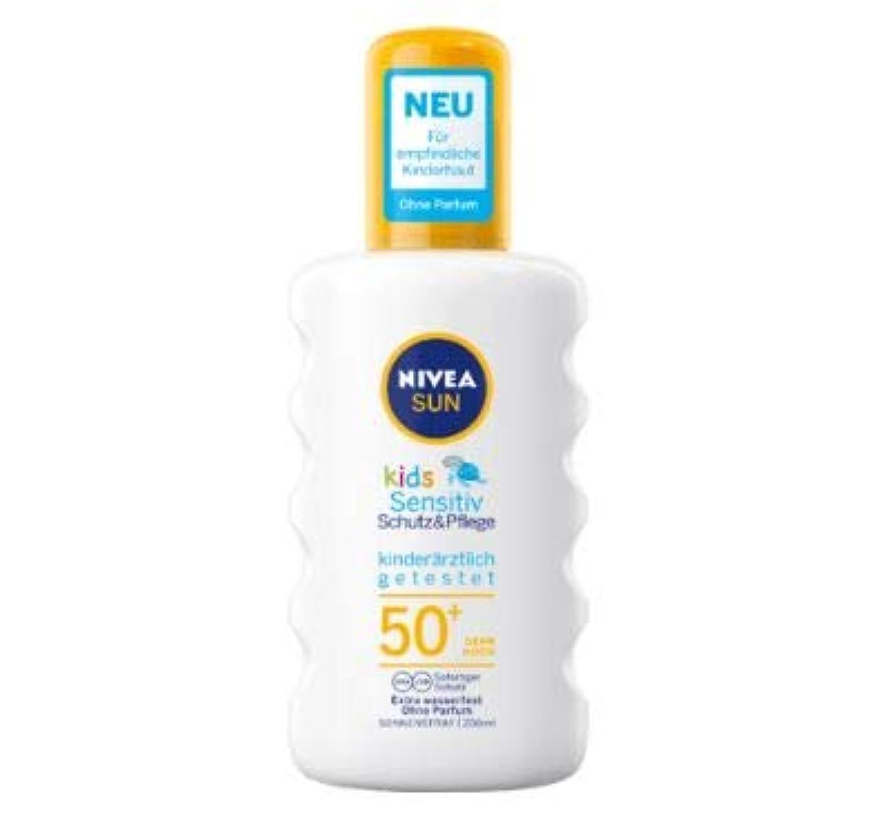 中毒長さ飢饉ニベア Nivea Sun 日焼け止め スプレー 敏感肌 子供用 200ml SPF50+ [並行輸入品]