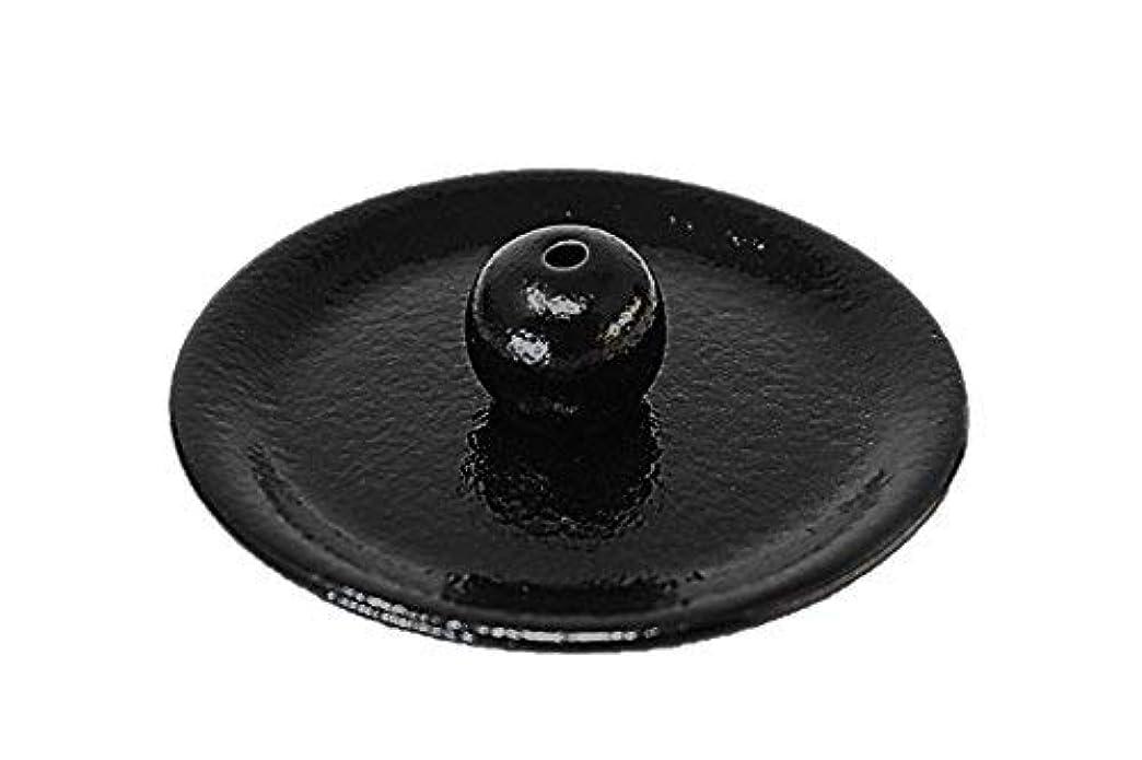 不道徳ドラム医薬品9-49 柚子黒 9cm香皿 日本製 お香立て 陶器