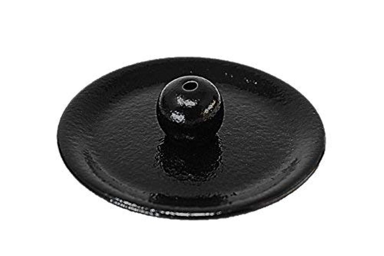 特異性間接的磁気9-49 柚子黒 9cm香皿 日本製 お香立て 陶器