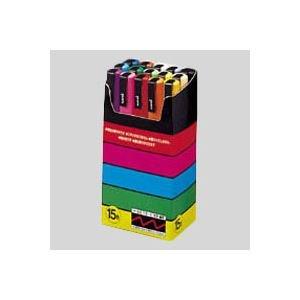 (業務用セット) 三菱鉛筆 ユニ ポスカ セット PC-3M15C 黒 赤 青 緑 黄 桃 水色 白 黄緑 紫 うす橙 山吹 橙 茶 灰 1セット 〔×2セット〕