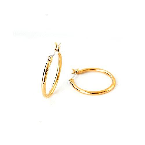 [해외]One &  Only Jewellery 후프 귀걸이 K18GP (골드 | L)/One &  Only Jewelery hoop earrings K18 GP (gold | L)