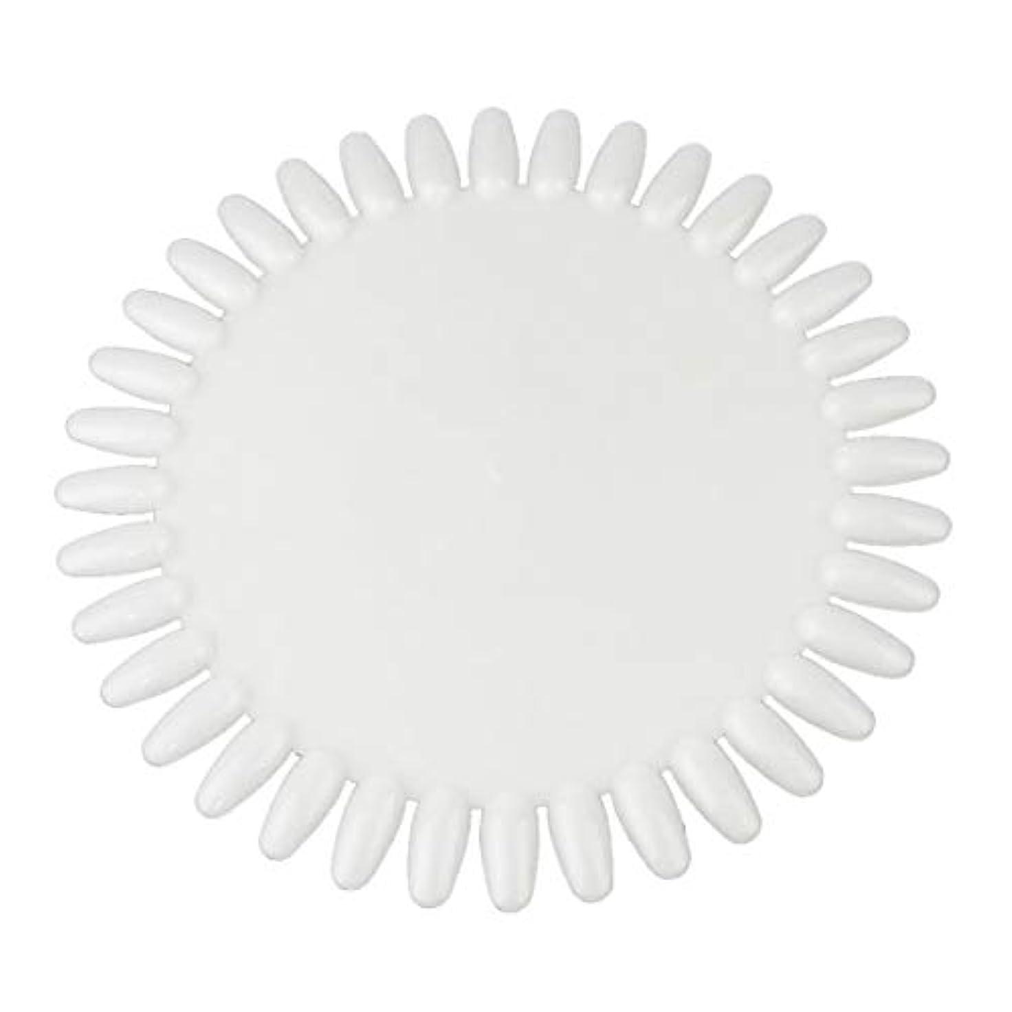 円形のペフパーセントWadachikis 特別な36色丸い釘磨きジェルカラーパレットチャート表示アートチップ大(None Natural color)