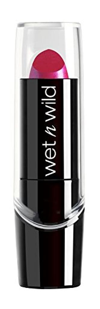 泣き叫ぶ勧告亜熱帯WET N WILD New Silk Finish Lipstick Fuchsia w Blue Pearl (並行輸入品)