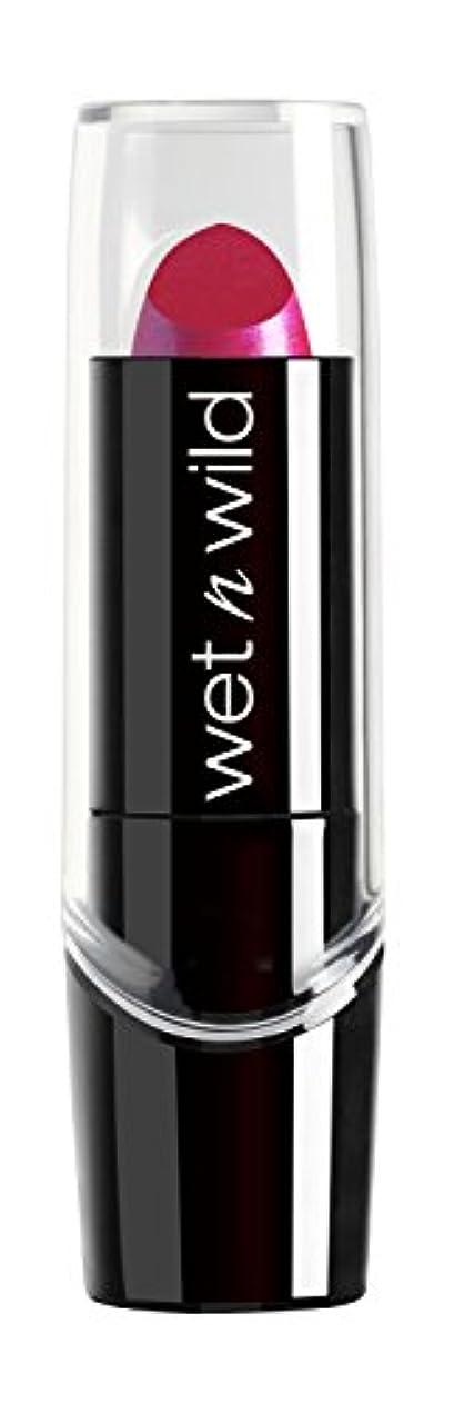 フルートサドル合体WET N WILD New Silk Finish Lipstick Fuchsia w Blue Pearl (並行輸入品)