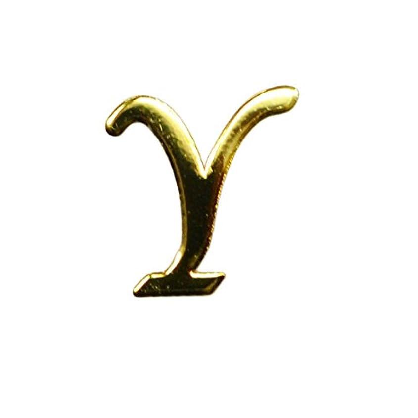 種類アルカトラズ島合理的Y/ゴールド?人気の書体のアルファベットイニシャルパーツ!5mm×5mm10枚