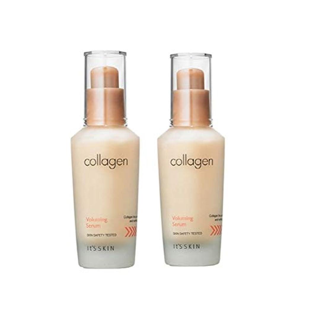 木ウェイトレステンションイッツスキンコラーゲン弾力セラム40ml x 2本セット、It's Skin Collagen Voluming Serum 40ml x 2ea Set [並行輸入品]