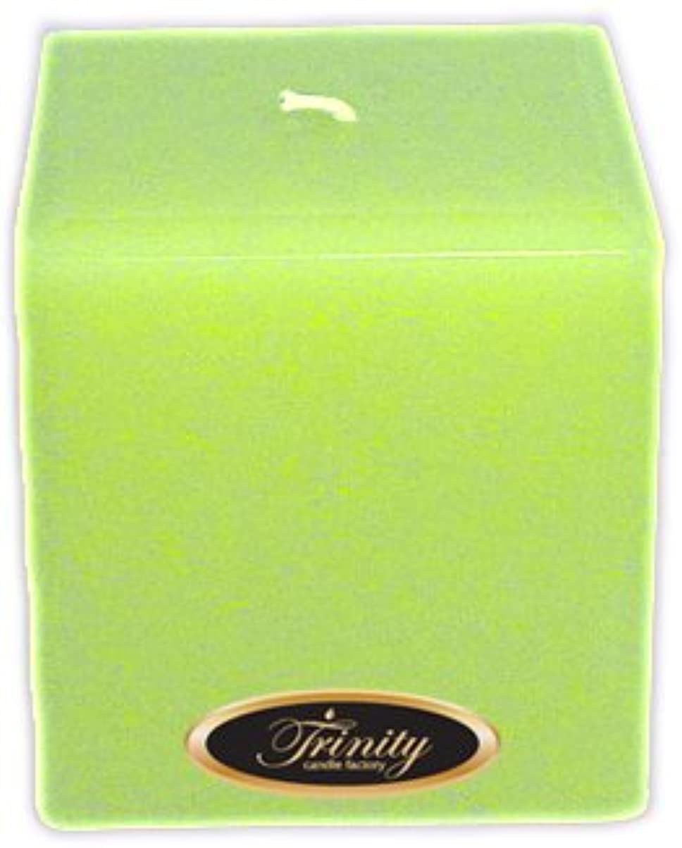 スカープ有能な長老Trinity Candle工場 – モロッコメロン – Pillar Candle – 正方形 – 4 x 4