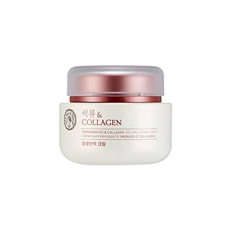 必要性好みキルスTHE FACE SHOP Pomegranate & Collagen Volume Lifting Cream 100ml/ザフェイスショップ ザクロ アンド コラーゲン ボリューム リフティング クリーム 100ml