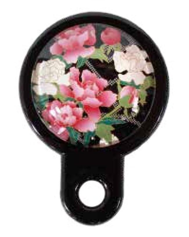 力学おかしい余計な[PLUS COMFORT]手鏡 ハンドミラー 和柄 さくら 日本 お土産 ポケットサイズ (V)