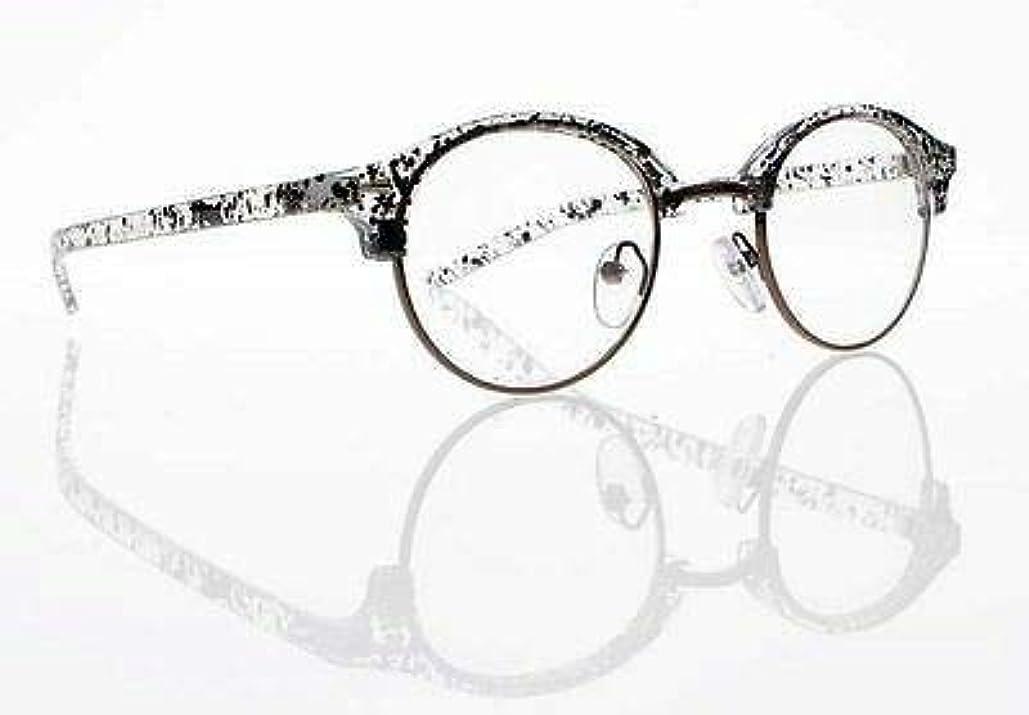 FidgetGear 新しいユニセックスレトロラウンドフレームクリアレンズ老眼鏡+1.0 + 2.0 + 3.0 + 4.0 スペックルパターン