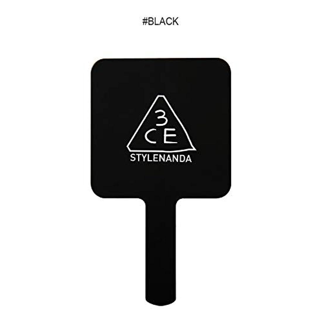 赤道ディベートふくろうスリーコンセプトアイズ 3CE ミニ ハンド ミラー #BLACK