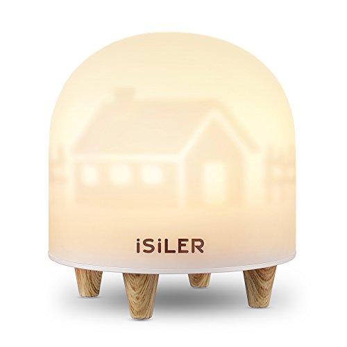ナイトライト iSiLER LED ベッドサイドランプ タッチ式 応急ライト 明るさ調節可能 USB充電 48時間稼働 子供安全素材 授乳用 読書用 携帯便利
