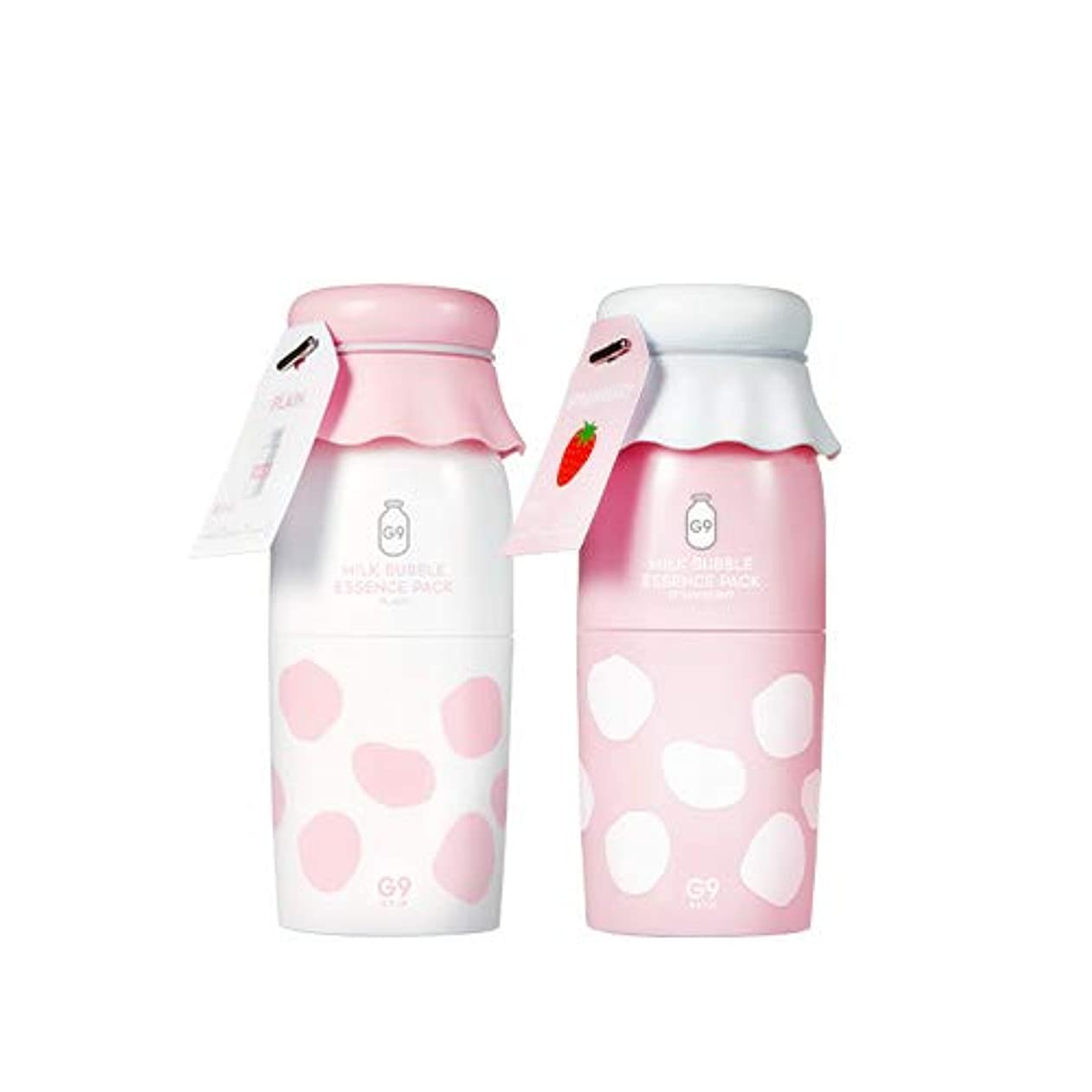 [G9SKIN] MILK BUBBLE ESSENCE PACK ミルクバブルエッセンスパック_STRAWBERRY