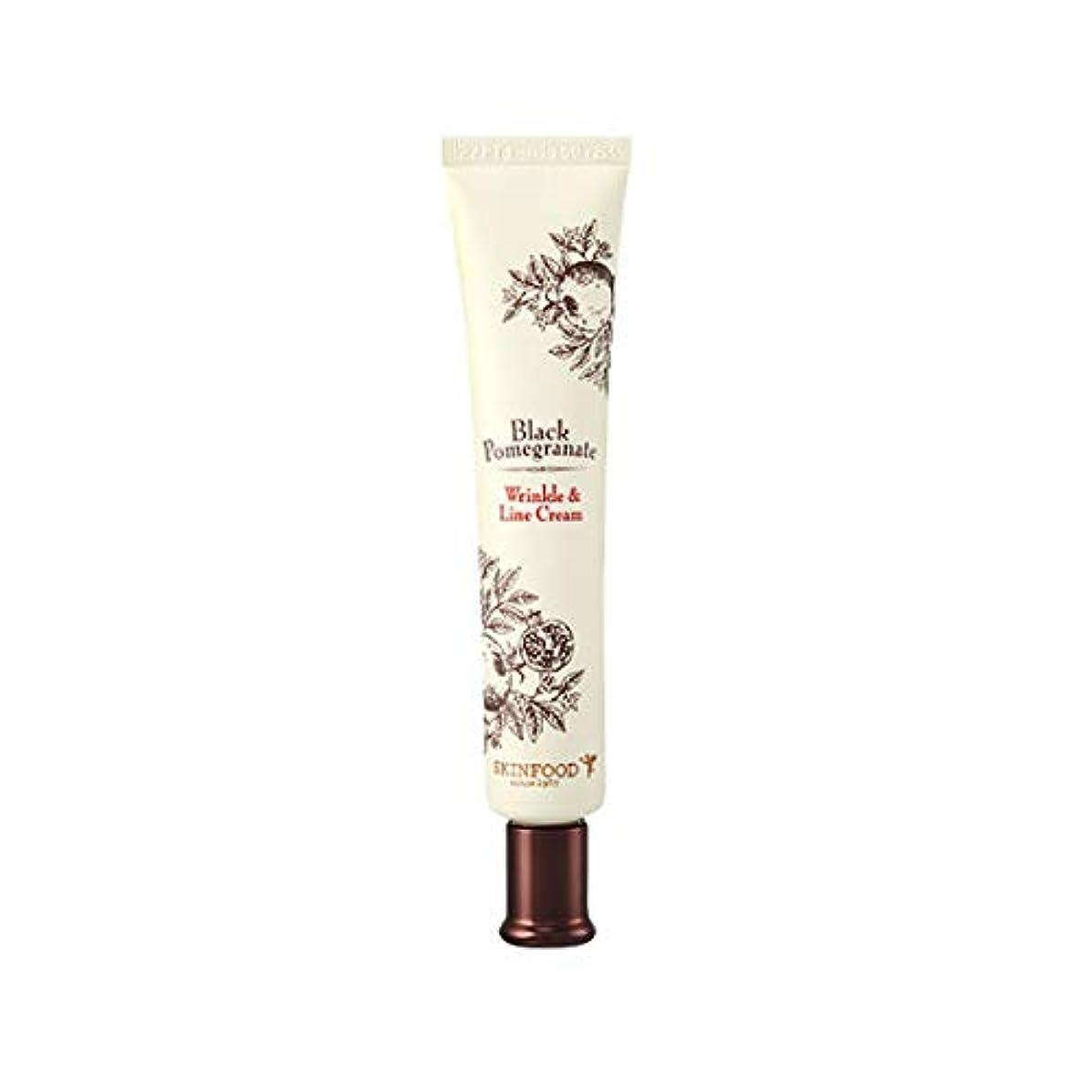 東ティモール誇大妄想分析的Skinfood 黒ザクロシワ&ラインクリーム(シワ防止効果) / Black Pomegranate Wrinkle & Line Cream (Anti-Wrinkle Effect) 30ml [並行輸入品]