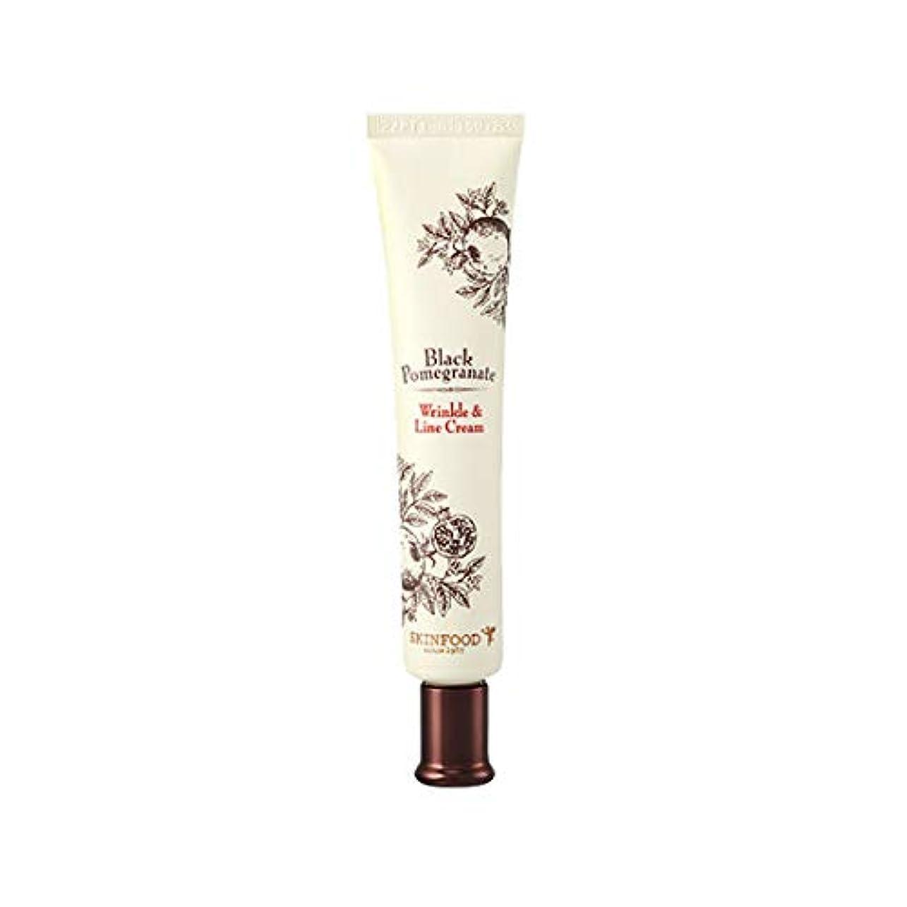 縫い目証言するスカーフSkinfood 黒ザクロシワ&ラインクリーム(シワ防止効果) / Black Pomegranate Wrinkle & Line Cream (Anti-Wrinkle Effect) 30ml [並行輸入品]