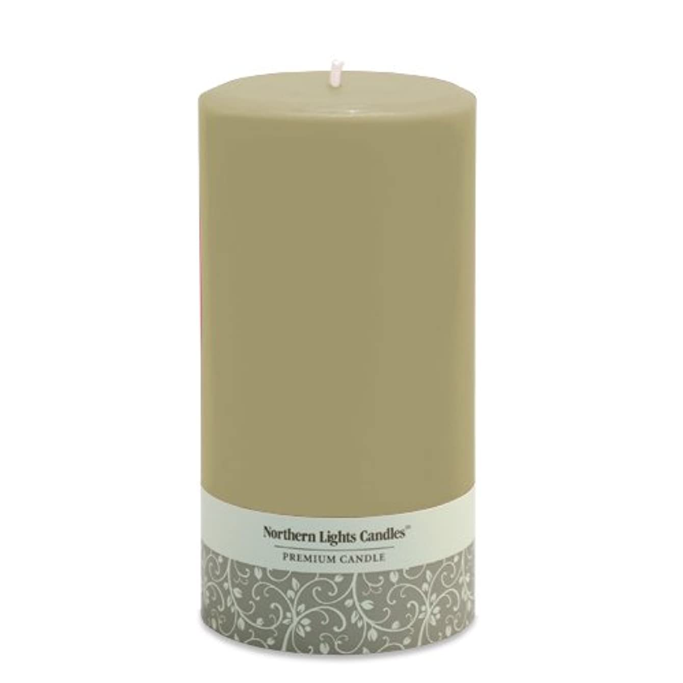 ハッピー数字委任(7.6cm by 15cm , Sand) - Northern Lights Candles Fragrance Free Pillar Candle, 7.6cm by 15cm , Sand