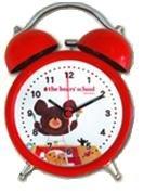 The bear's school くまのがっこう 目覚まし時計 キャラクター ツインベルクロック AC06612KG レッド AC06612KG