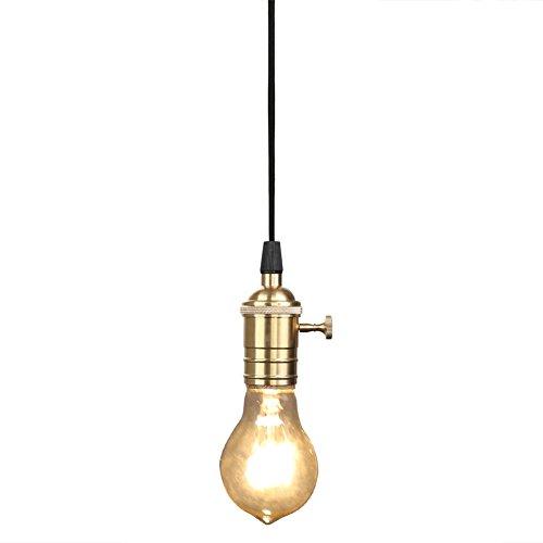 Fuloon ペンダントライト・レトロ・照明器具 真鍮 1灯 アンティーク調 レトロ おしゃれ かっ...