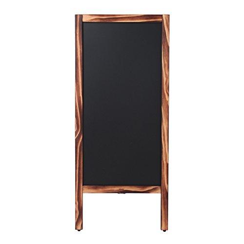 Aタイプ 木目調 スタンドボード 大 幅45×高さ104cm [ メニューボード ウェルカムボード ブラックボード 立て看板 A型看板 看板 黒板 ウッドボード ウェディング カフェ インテリア サロン 飲食店 両面 木製 ]