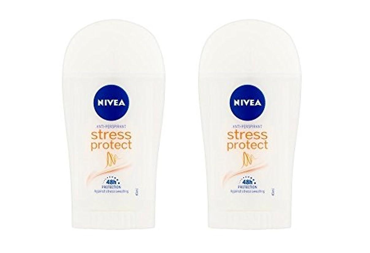 ヨーロッパ衰える事実上(2パック) ニベア応力プロテクト制汗剤デオドラントスティック女性のための2x40ml - (Pack of 2) Nivea Stress Protect Anti-perspirant Deodorant Stick...