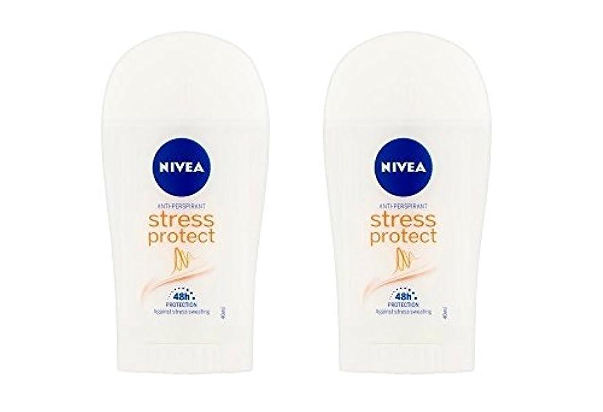 歌う主要な学ぶ(2パック) ニベア応力プロテクト制汗剤デオドラントスティック女性のための2x40ml - (Pack of 2) Nivea Stress Protect Anti-perspirant Deodorant Stick...