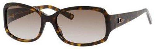 Dior 086(Ha) ダークハバナgranville2長方形サングラスサイズ55mm