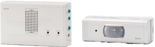 ELPA ワイヤレスチャイム センサー送信器セット