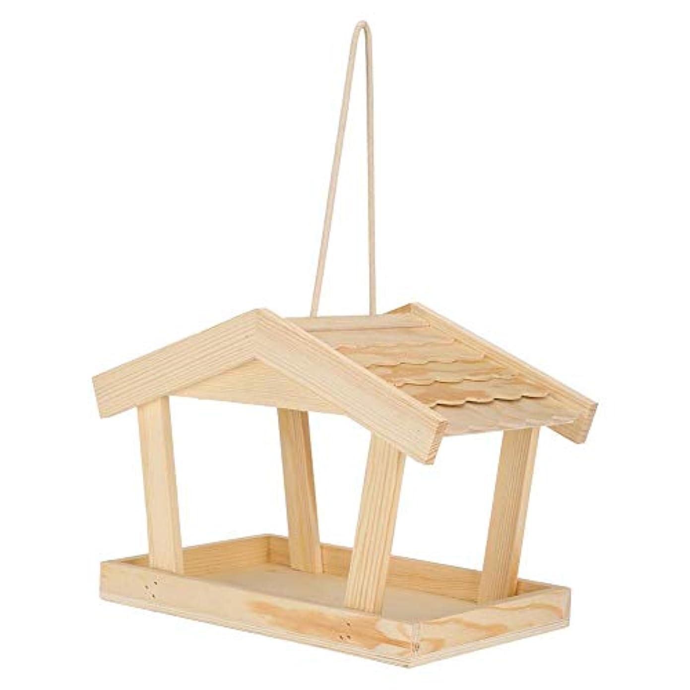 消化トランスペアレント長方形巣箱キット、木製巣箱ウッド巣箱巣箱、巣箱スタンド庭のバルコニー用屋外巣箱