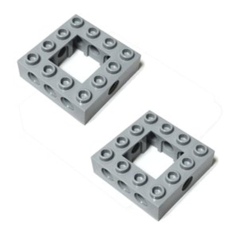 LEGOブロック?純正パーツ<テクニック?ブロック>4 x 4 Open Center (2個, Light Bluish Gray) [並行輸入品]