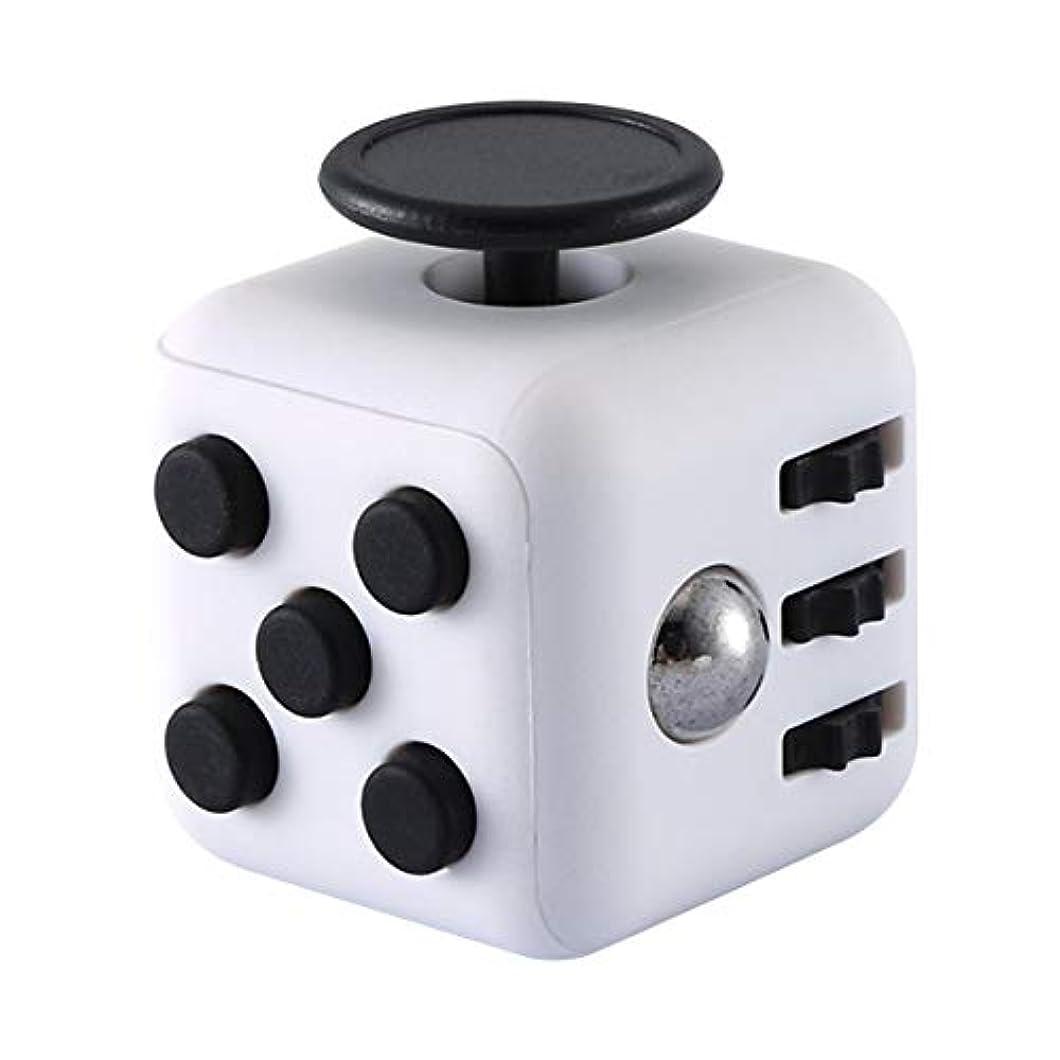デモンストレーション仲間波紋減圧ダイス振動圧力リリーフグッズ減圧玩具-ホワイトブラック