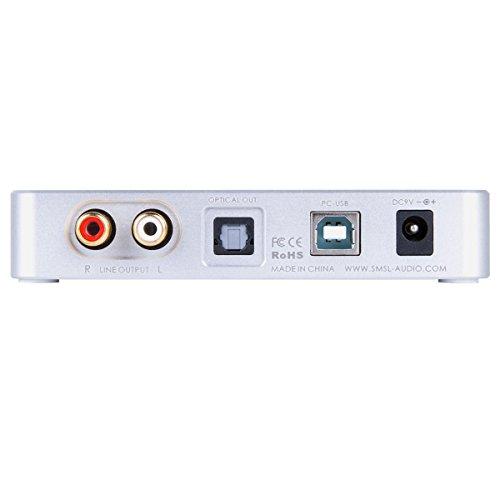 SMSL V2 HiFiヘッドフォンアンプ+CM6631A ES9023 USB DACデコーダー 32Bit/384KHz