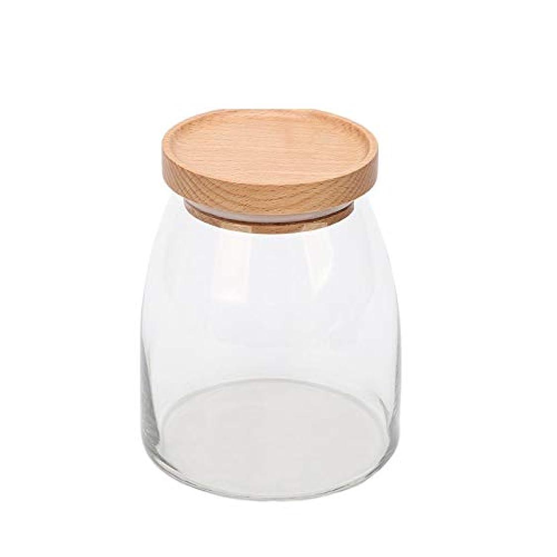 代理店船形言語学貯蔵タンク、透明ガラス貯蔵タンク、家庭用食品、茶瓶