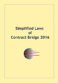 Simplified laws of contract bridge 2016 by [Mannerstrale, Patricia]