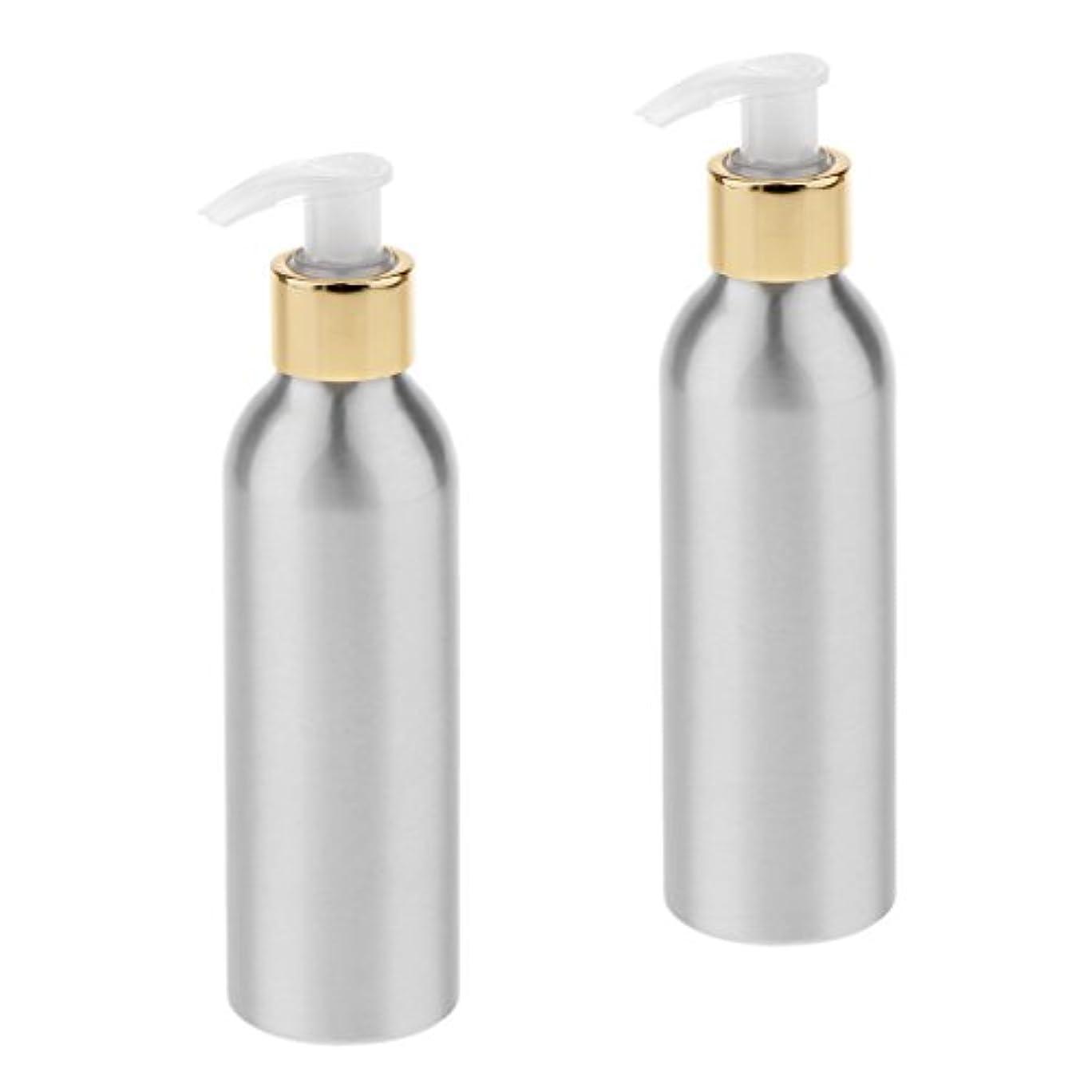 工業用賞賛行方不明Fenteer 2本 スプレーボトル ポンプボトル アルミボトル 香水ボトル シャンプー 噴霧器 アトマイザー 詰替え DIY 6サイズ選択 - 150m