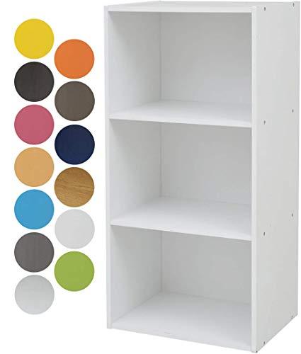 RoomClip商品情報 - 山善 カラーボックス 3段 幅42×奥行29×高さ89cm 各棚耐荷重25kg ホワイト GCB-3(WH)
