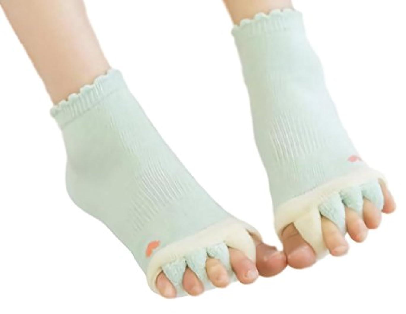 研究所慢性的上へ[ウレギッシュ] ソックス 足指全開 5本指 ストレス 解消 くつろぎ ルームソックス